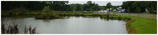 Fishing Lakes at Riverside caravan park