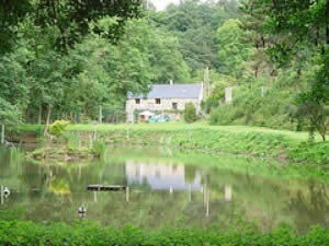 Renovated 3 Bed Mill with Carp & Trout Lake in France in Normandy, France