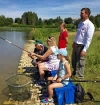 Local MP Mims Davies visits Eastleigh holiday fishing project with the Angling Trust